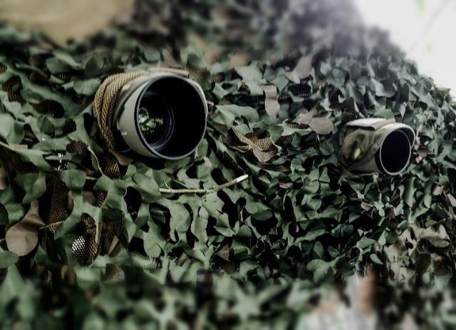 Camouflaged photographers
